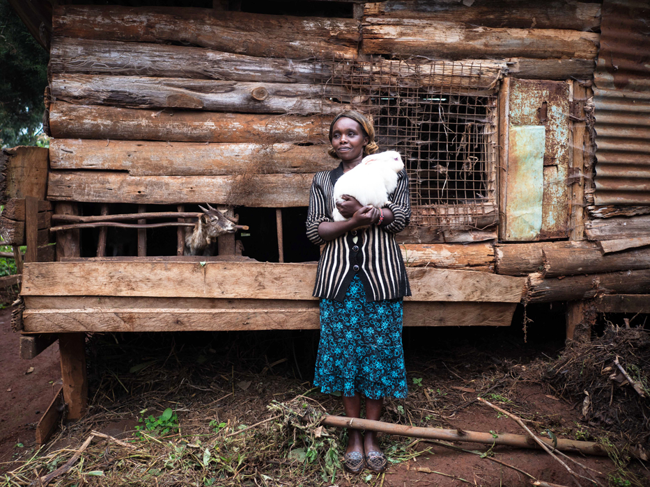 """Florence Wanja, 35, tea farmer and hairdresser. """"One day he hit me in front of strangers. That's when I decided I should go back to my parents' [place] and look for a different future. It's a hard step to take among us Kikuyu. Going back to your parents is frowned on if the husband has paid the bride wealth and you already have your own household... We haven't seen each other since the separation. I think about it, but I don't want him to know that. He says he's going to stop drinking. I don't really believe it, but all the same I hope we'll have a future together. That's just how I feel."""""""