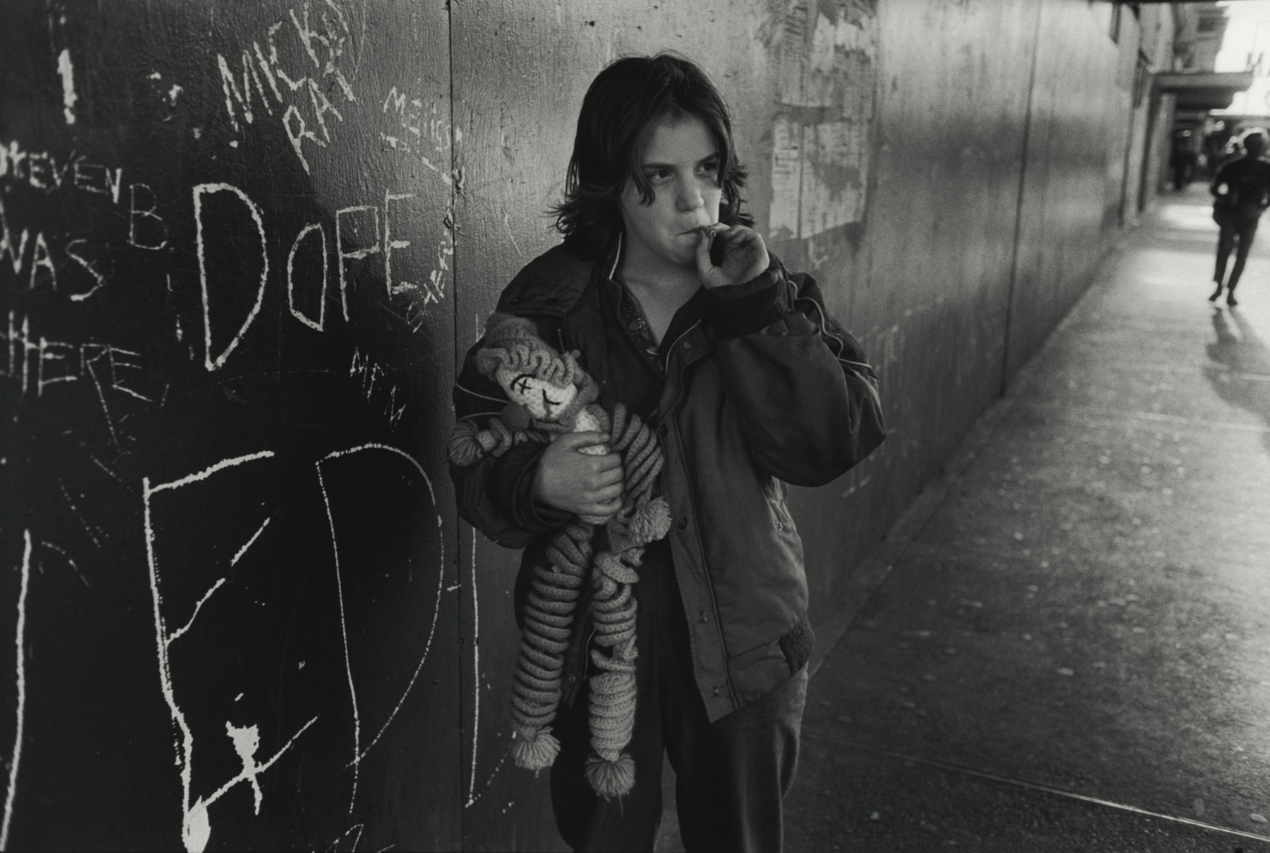 Lillie with her rag doll. Seattle, Washington From the series Streetwise, 1983 © Mary Ellen Mark/ Courtesy Howard Greenberg Gallery New York