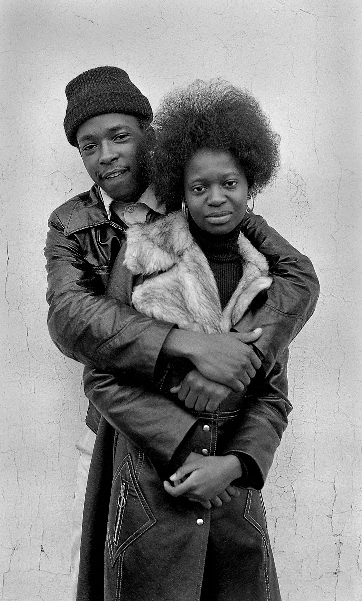 Man hugging woman, 1974