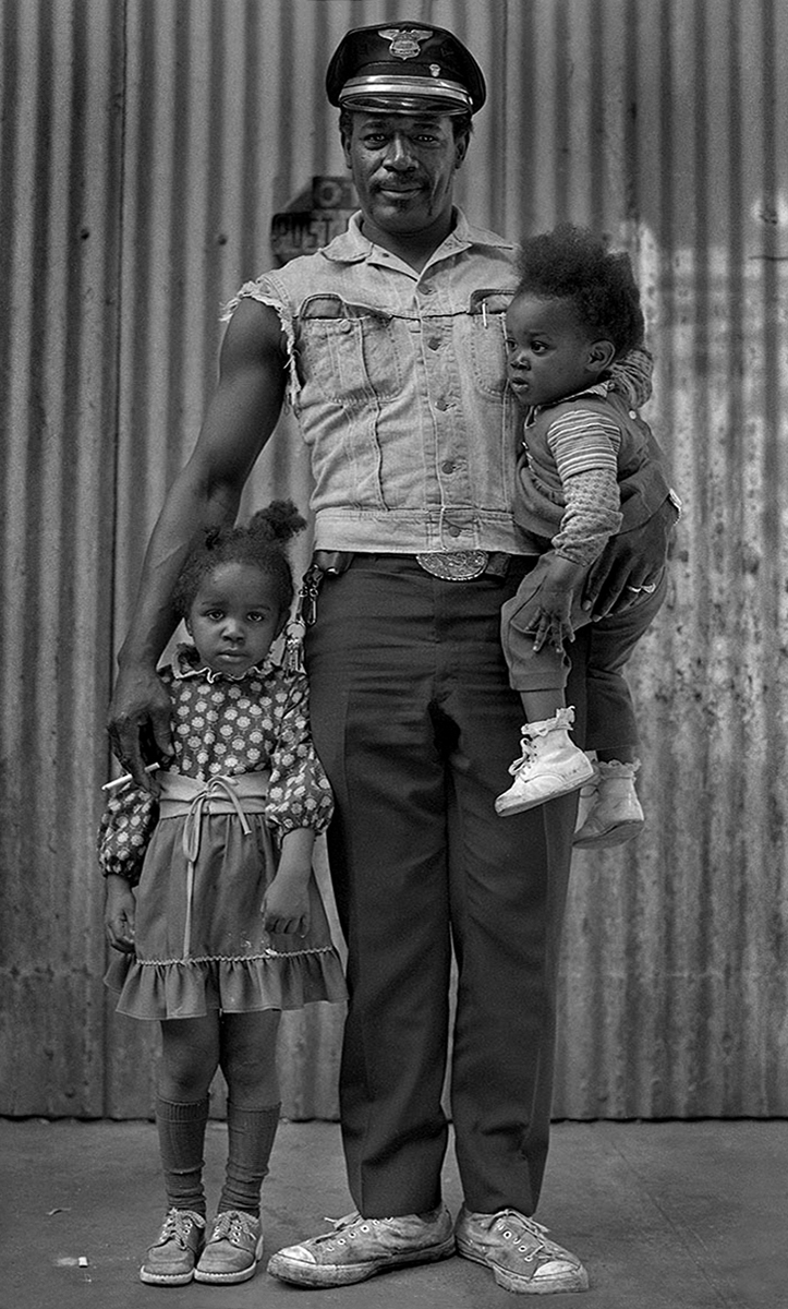 Proud father with children, NYC