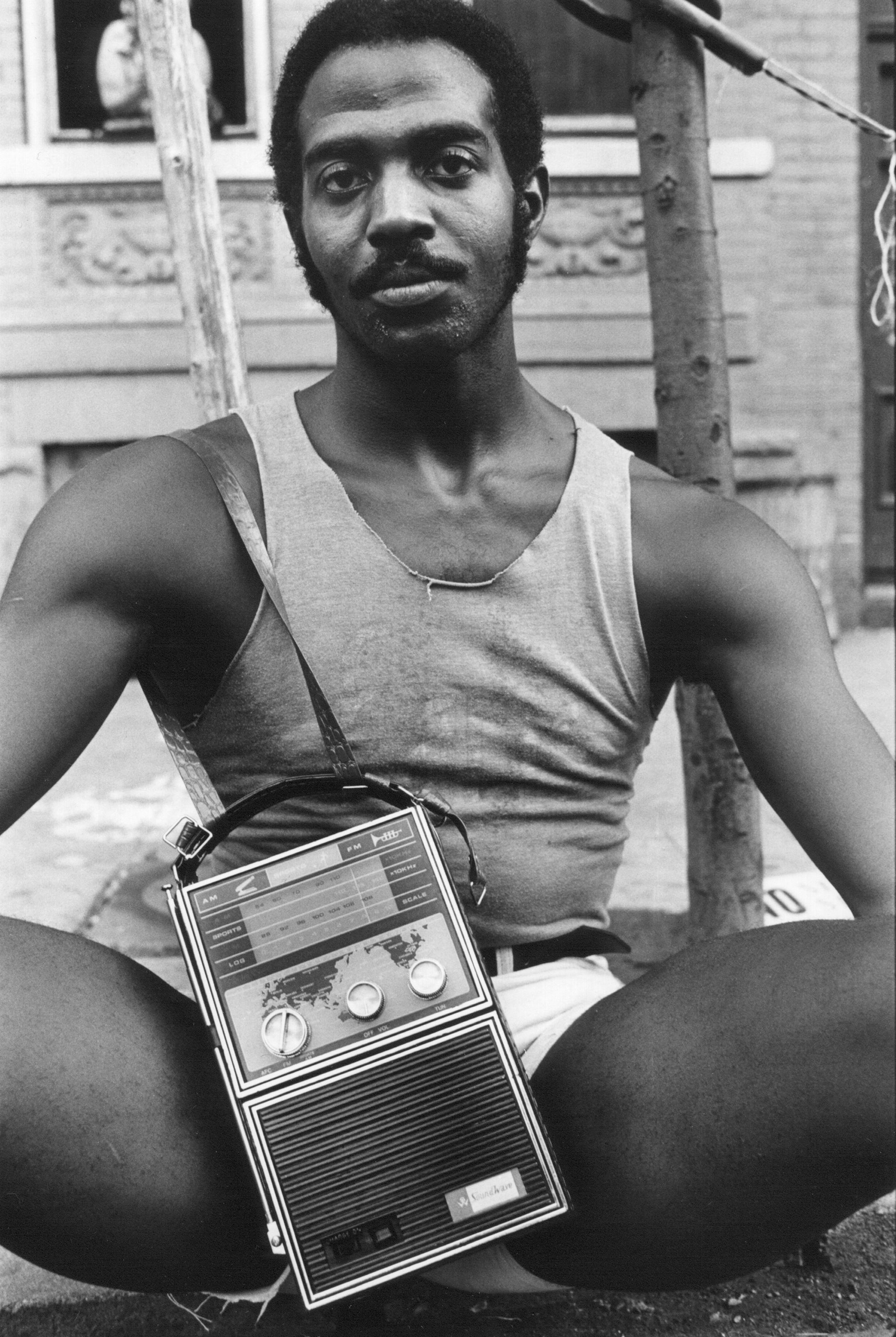 Guy With Radio, East 7th Street, 1977