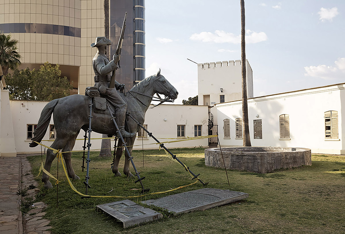 The Reiterdenkmal in the Alte Feste Museum, Windhoek, Namibia (2014)