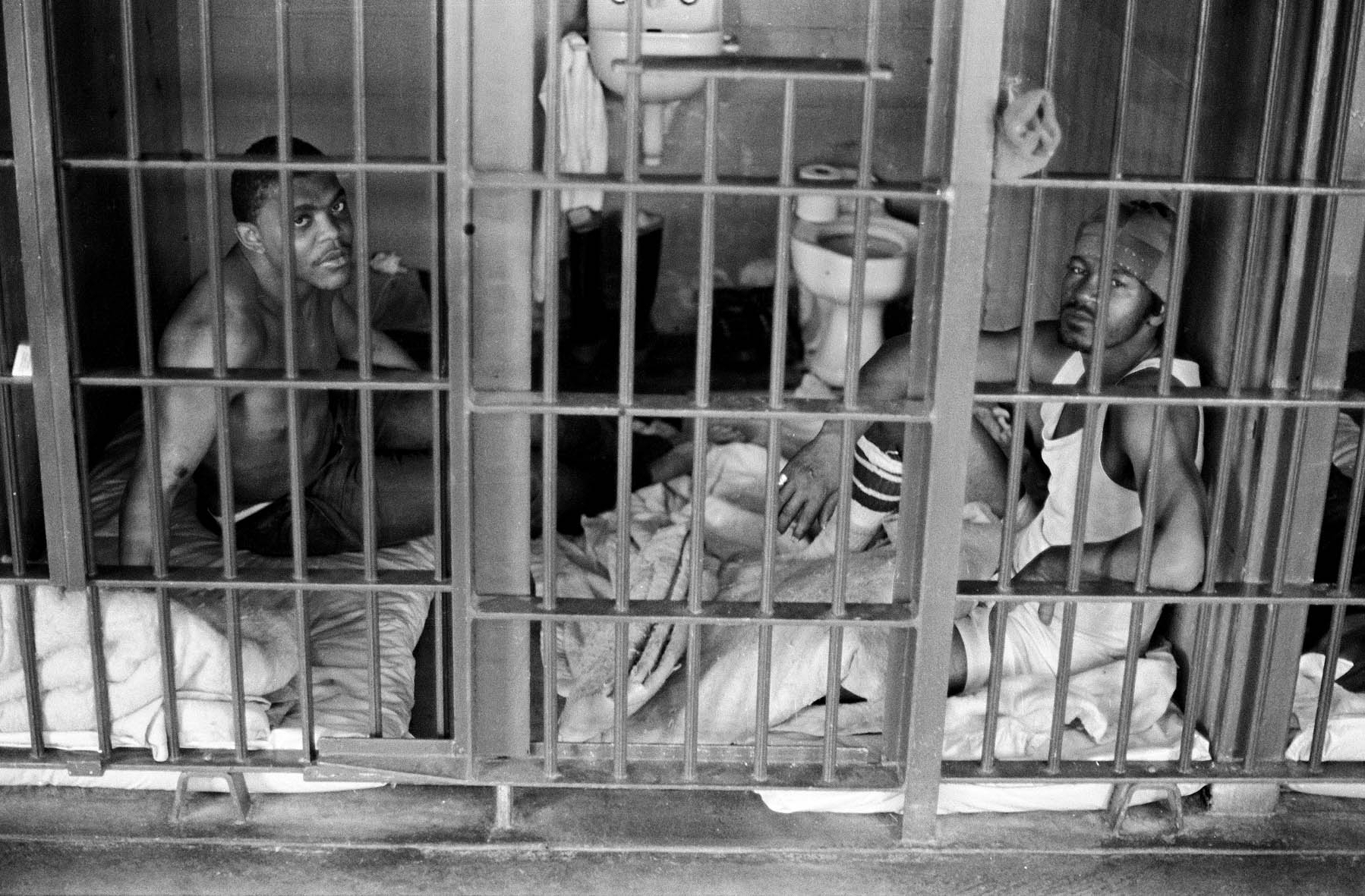 Keith Calhoun. TWO TO A SIX-BY-EIGHT-FOOT CELL AT ANGOLA PRISON, 1980.