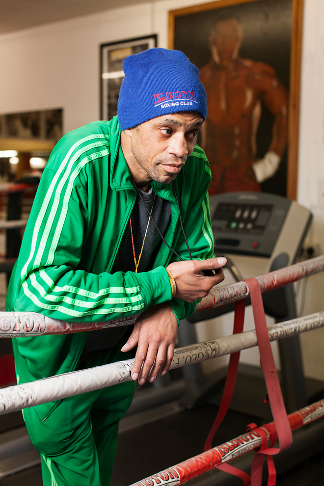 Jerry Mitchell, a senior coach at Islington Boxing Club.