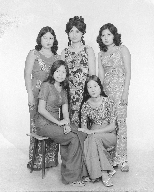 Calendar photographs taken by Har Si Yone, Bellay Photo Studio, Yangon 1970s
