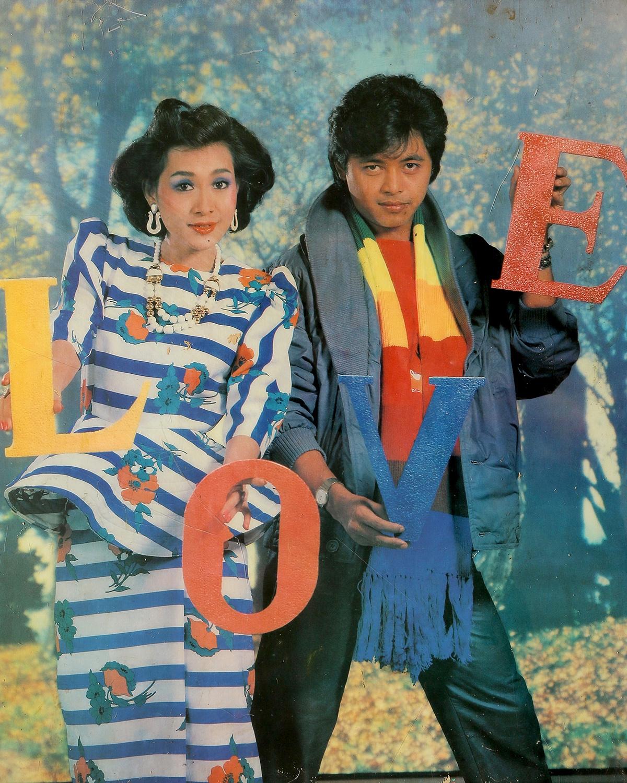 Actors  Kyaw Thu & Moh Moh Myint Aung. Taken by U Sann Aung, USA Photo Studio, Yangon 1989/1990