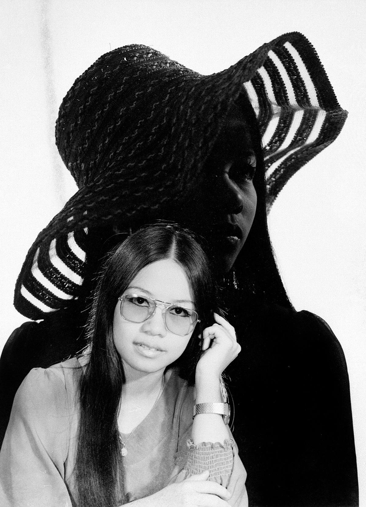 Double exposed  negative. Bellay Studio. Yangon, 1970s. Taken by Har Si Yone, Bellay Photo Studio, Yangon 1970s.