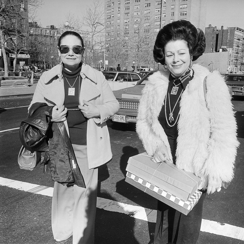 Women with gift boxes NY, NY April 1978