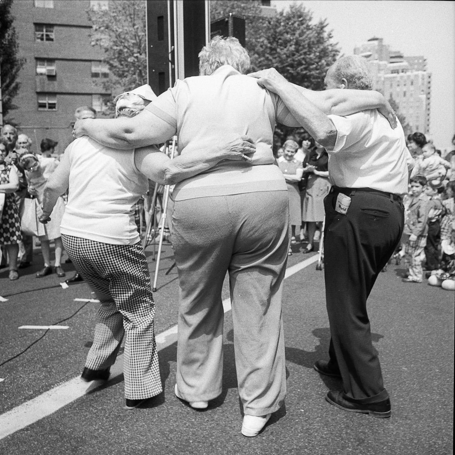 Dancing at the Lower East Side Street Festival NY, NY June 1978