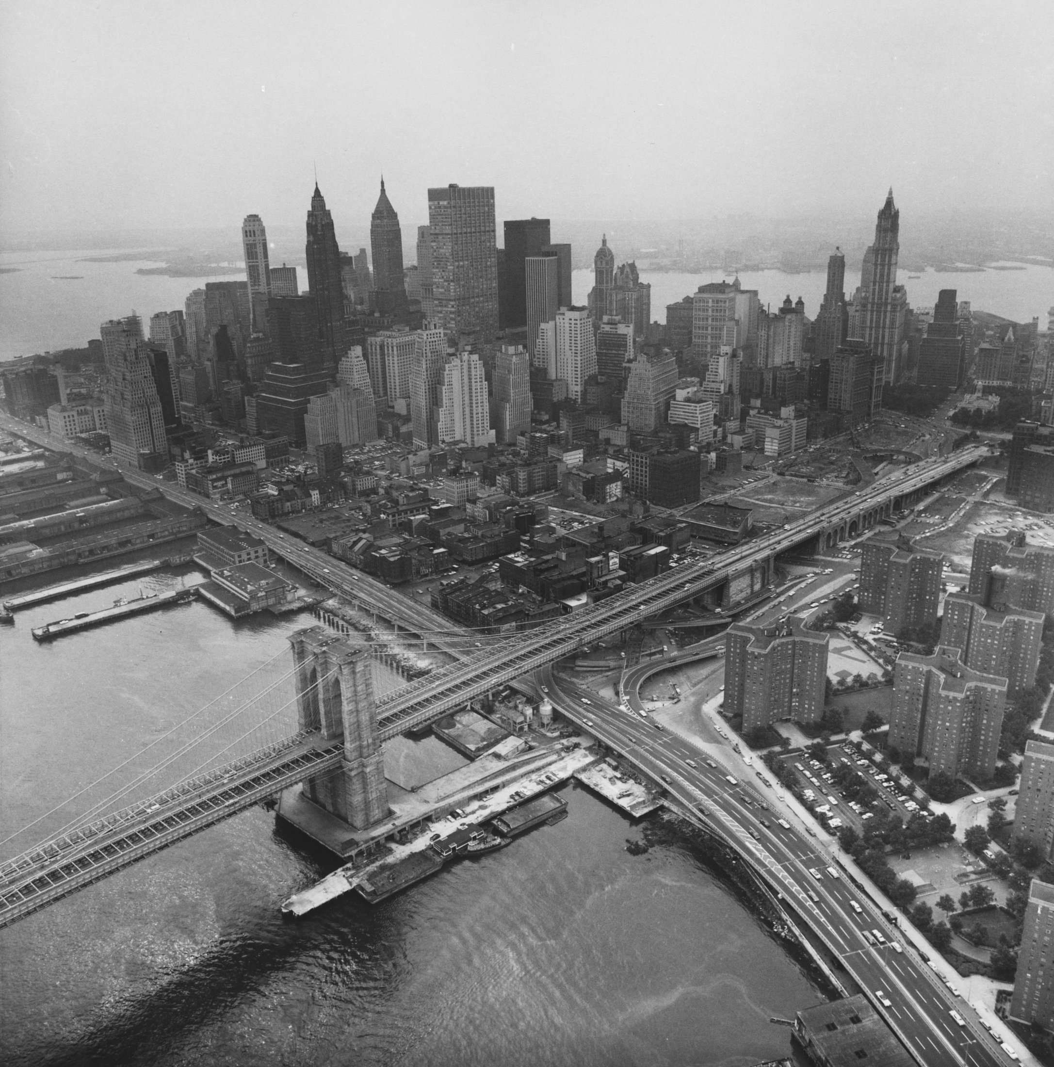Aerial view of Manhattan, 1966–67. The Cleveland Museum of Art, Gift of George Stephanopoulos