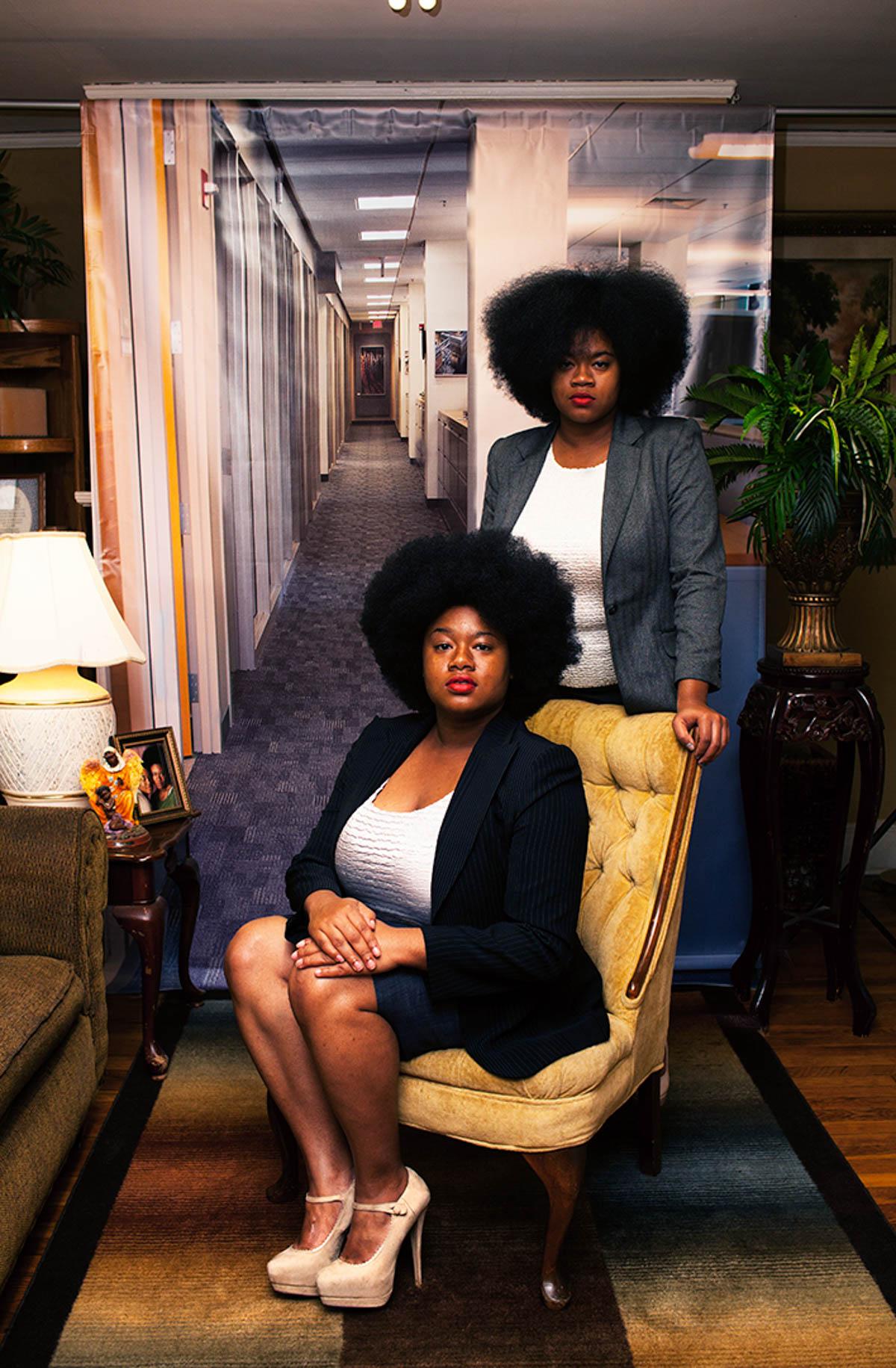 """Endia Beal, Sabrina and Katrina, 2015, from """"Am I What You're Looking For?"""", courtesy of the artist,from """"All Power: Visual Legacies of the Black Panther Party,"""" PCNW 2018"""