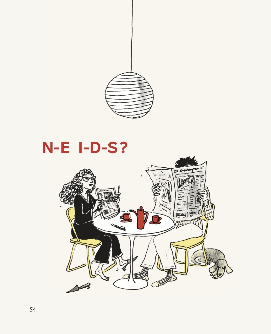 N-E I-D-S illustration