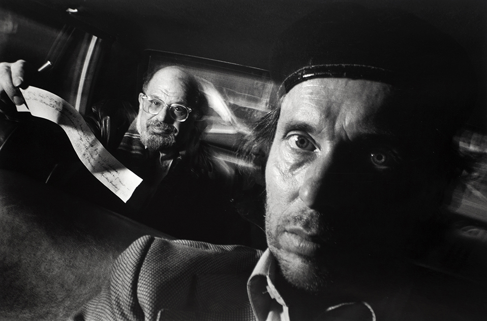 With Allen Ginsberg.