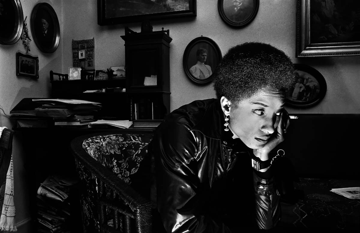 """Robert Wade, Connie Matthews, Copenhagen, Denmark 1969, courtesy of the photographer,from """"All Power: Visual Legacies of the Black Panther Party,"""" PCNW 2018"""