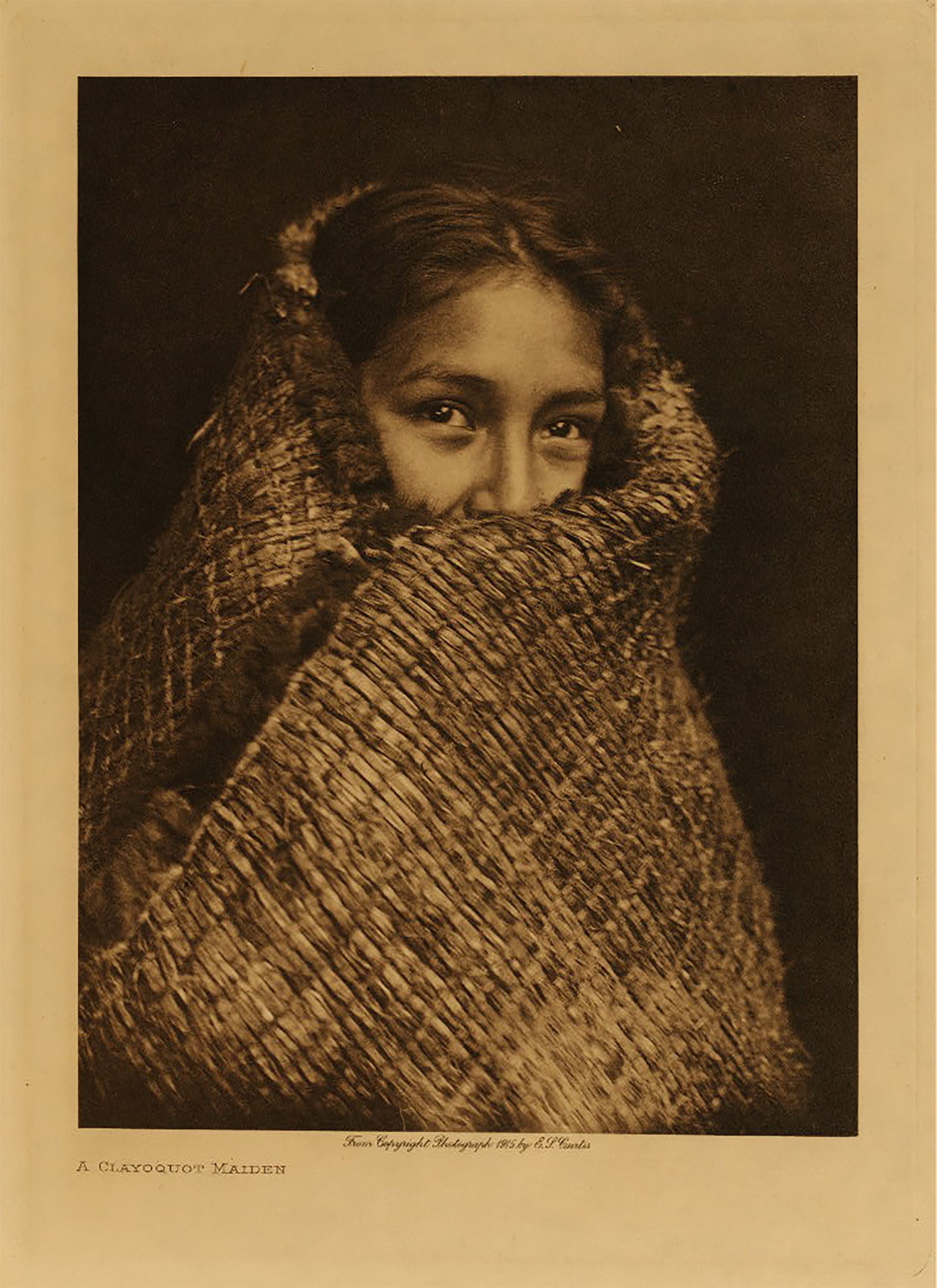 A Clayoquot Maiden, Edward S. Curtis