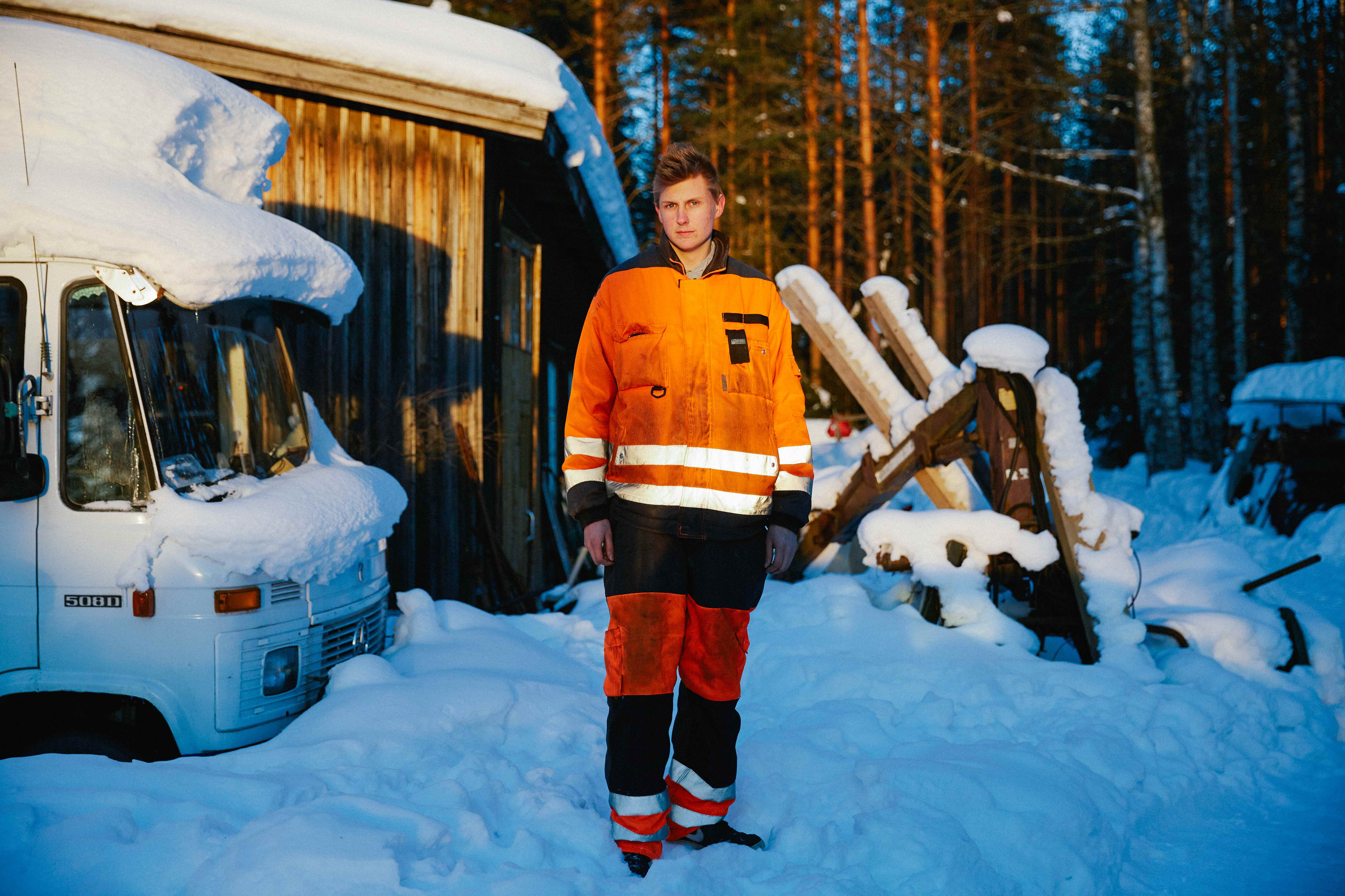 Juuso Lilja, 16, has been a mechanical hobbyist since before he could reach the pedals.