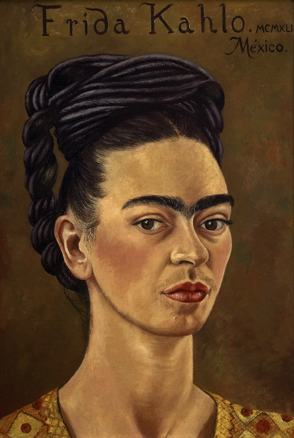 Self-portrait, Frida Kahlo, 1941 © The Jacques and Natasha Gelman Collection of 20th Century Mexican Art and The Vergel Collection