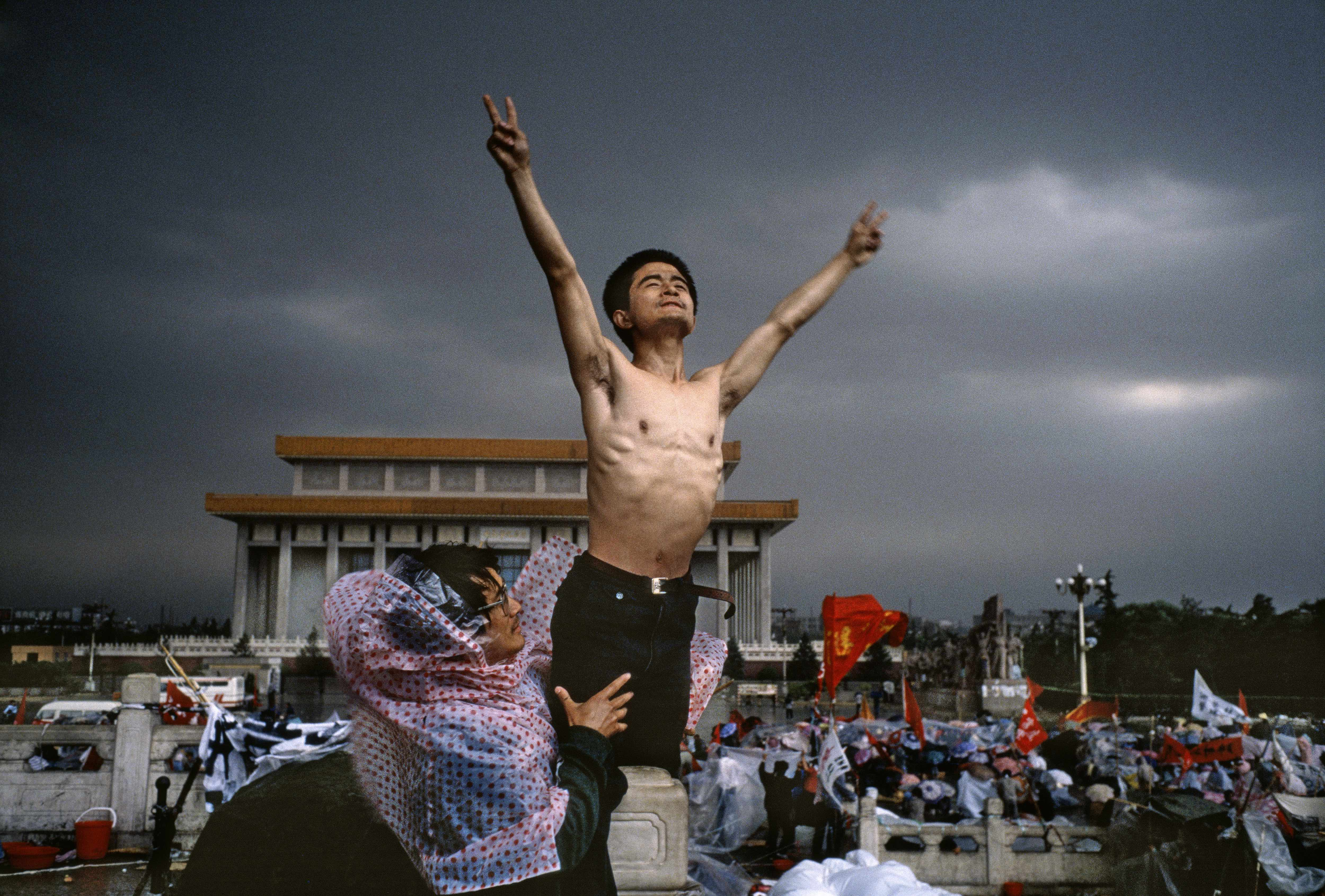 "Tiananmen Square. Beijing, China. 1989 © Stuart Franklin / Magnum Photos ""'Man is free, but men aren't. There are no limits to the freedom of one, there"