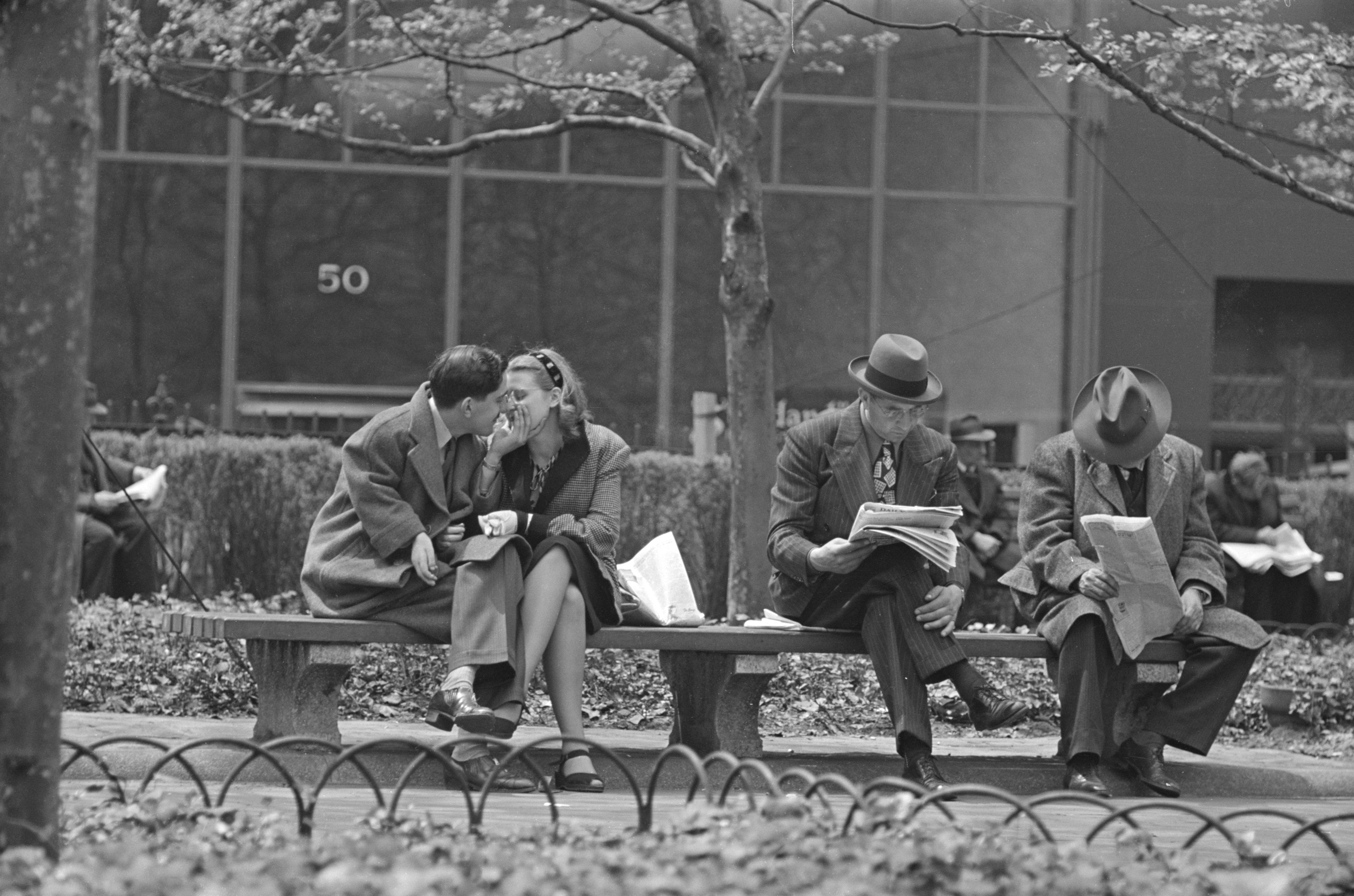 "Stanley Kubrick, from ""Park Benches: Love is Everywhere"", 1946"