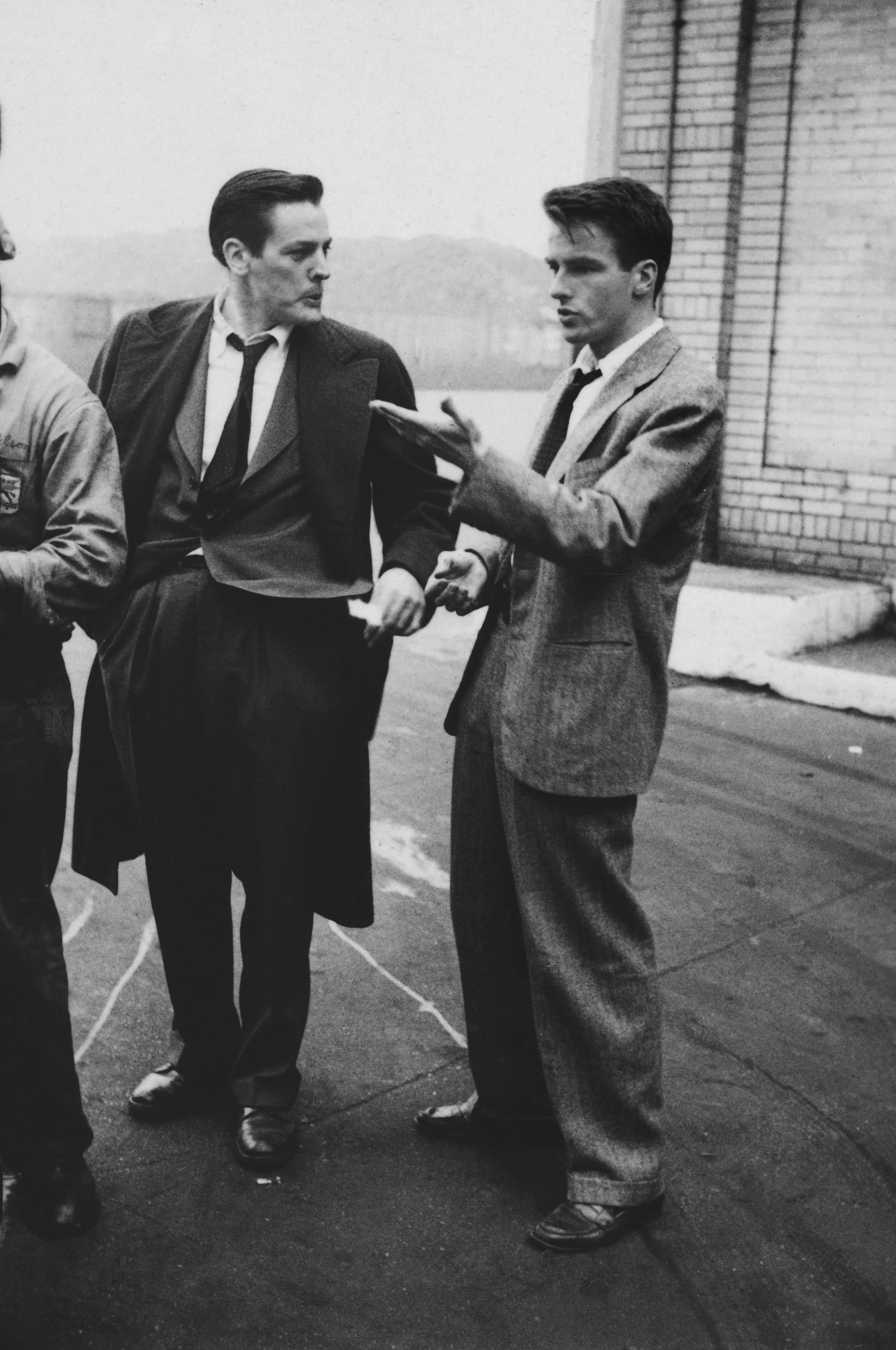 "Stanley Kubrick, Montgomery Clift with fellow actor Kevin McCarthy from ""Montgomery Clift: Glamour Boy in Baggy Pants"", 1949"
