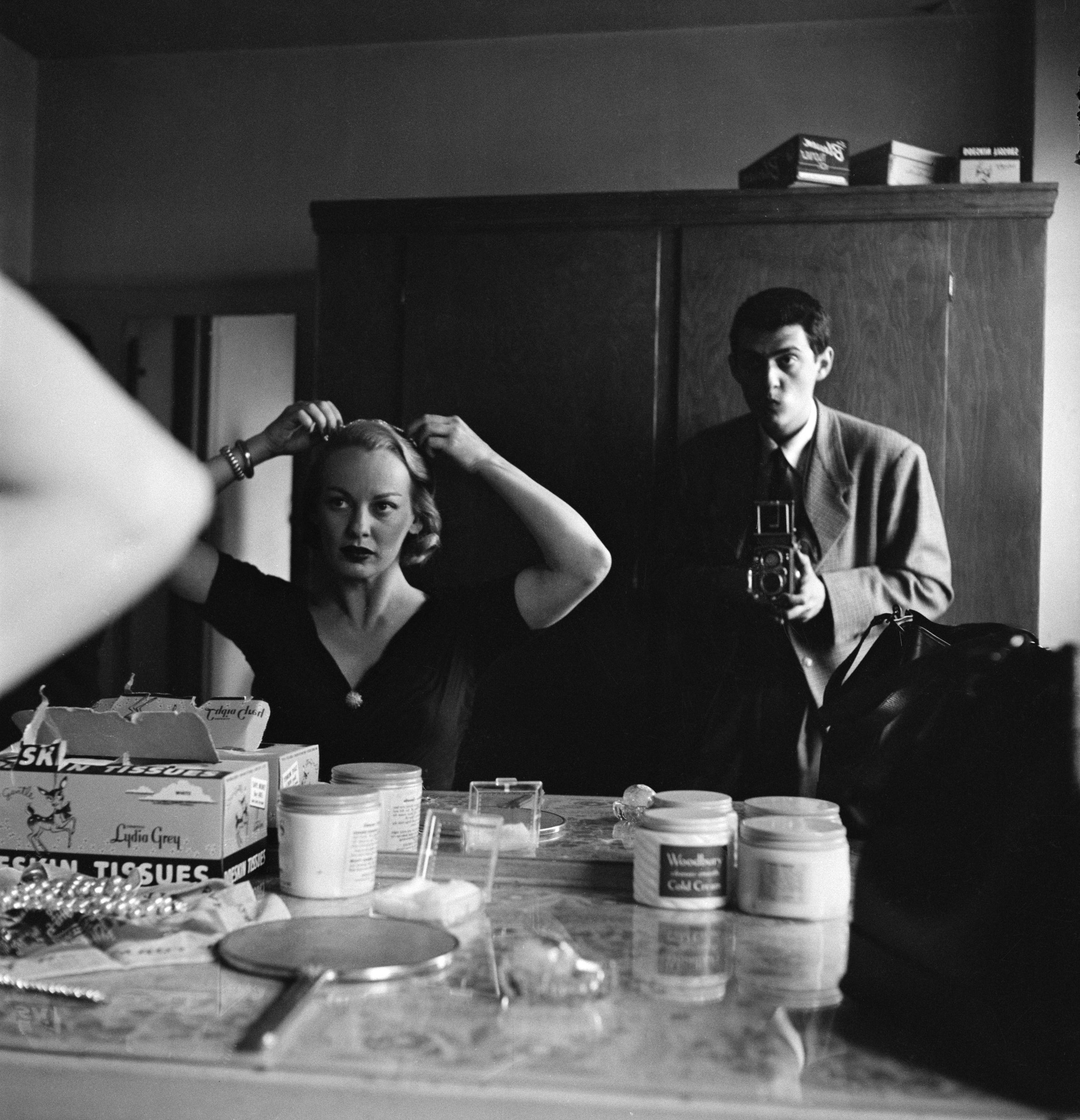 "Stanley Kubrick, Stanley Kubrick with Faye Emerson from ""Faye Emerson: Young Lady in a Hurry"", 1950"