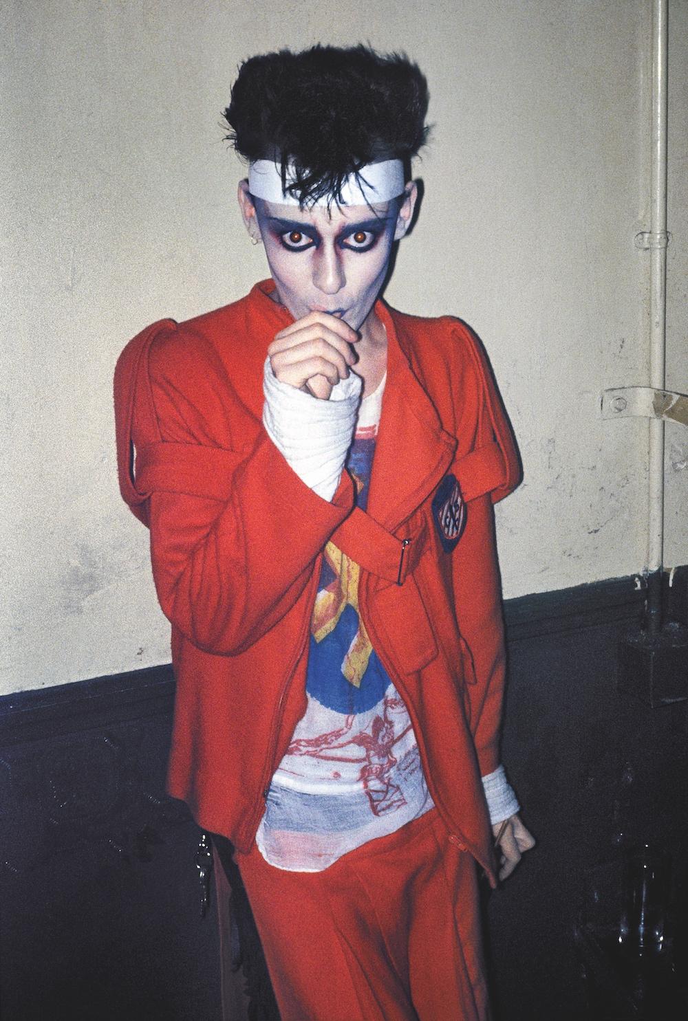 Stephen Linard at the Blitz Club, London Photo by Derek Ridgers