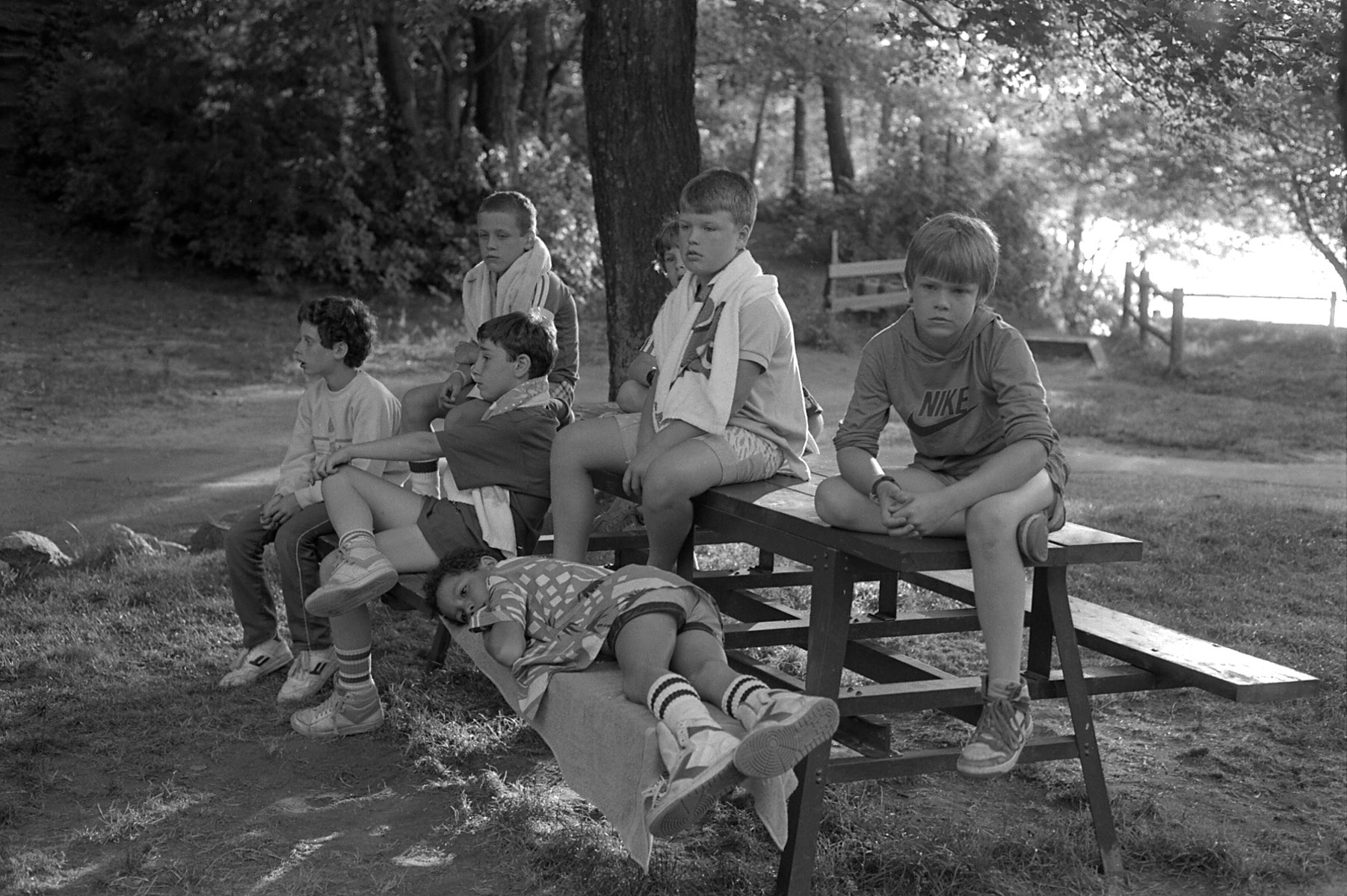 Vintage scenes of life at an American summer camp