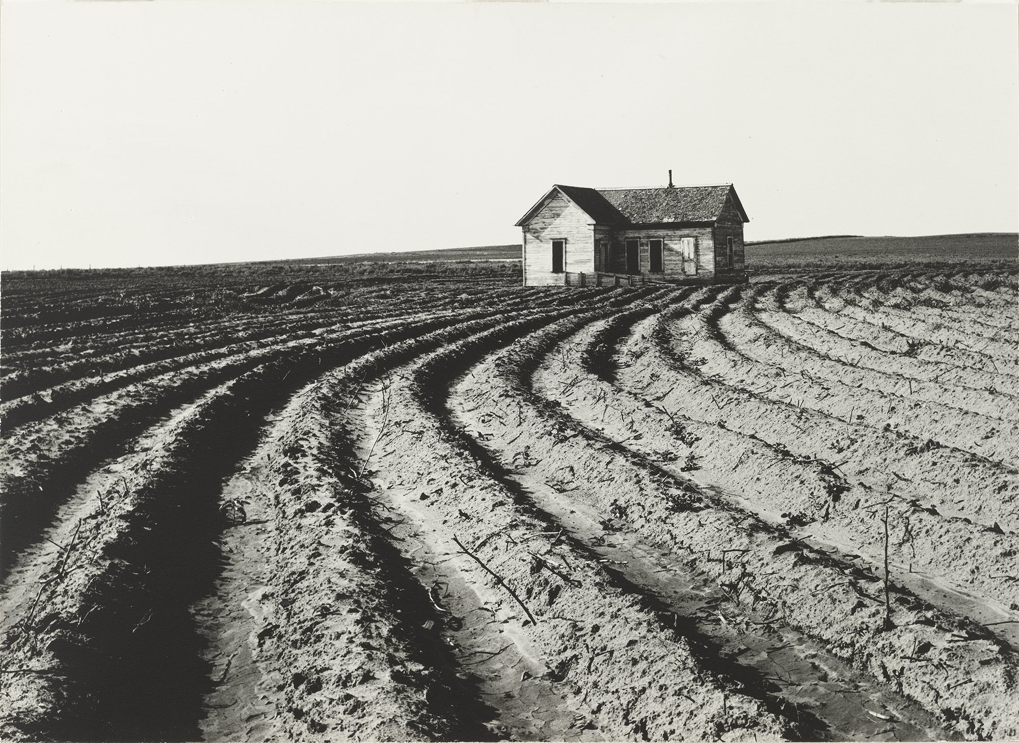 Dorothea Lange.Tractored Out, Childress County, Texas.1938