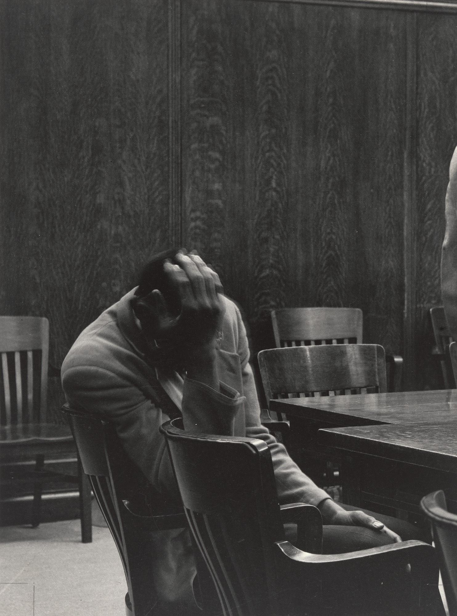 Dorothea Lange.The Defendant, Alameda County Courthouse, California.1957