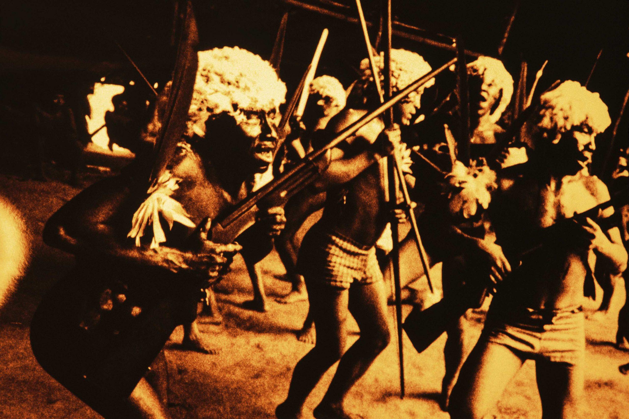 Amazon Slides from the audiovisual projection of Genocídio do Yanomami: morte do Brasil, 1989-2018.