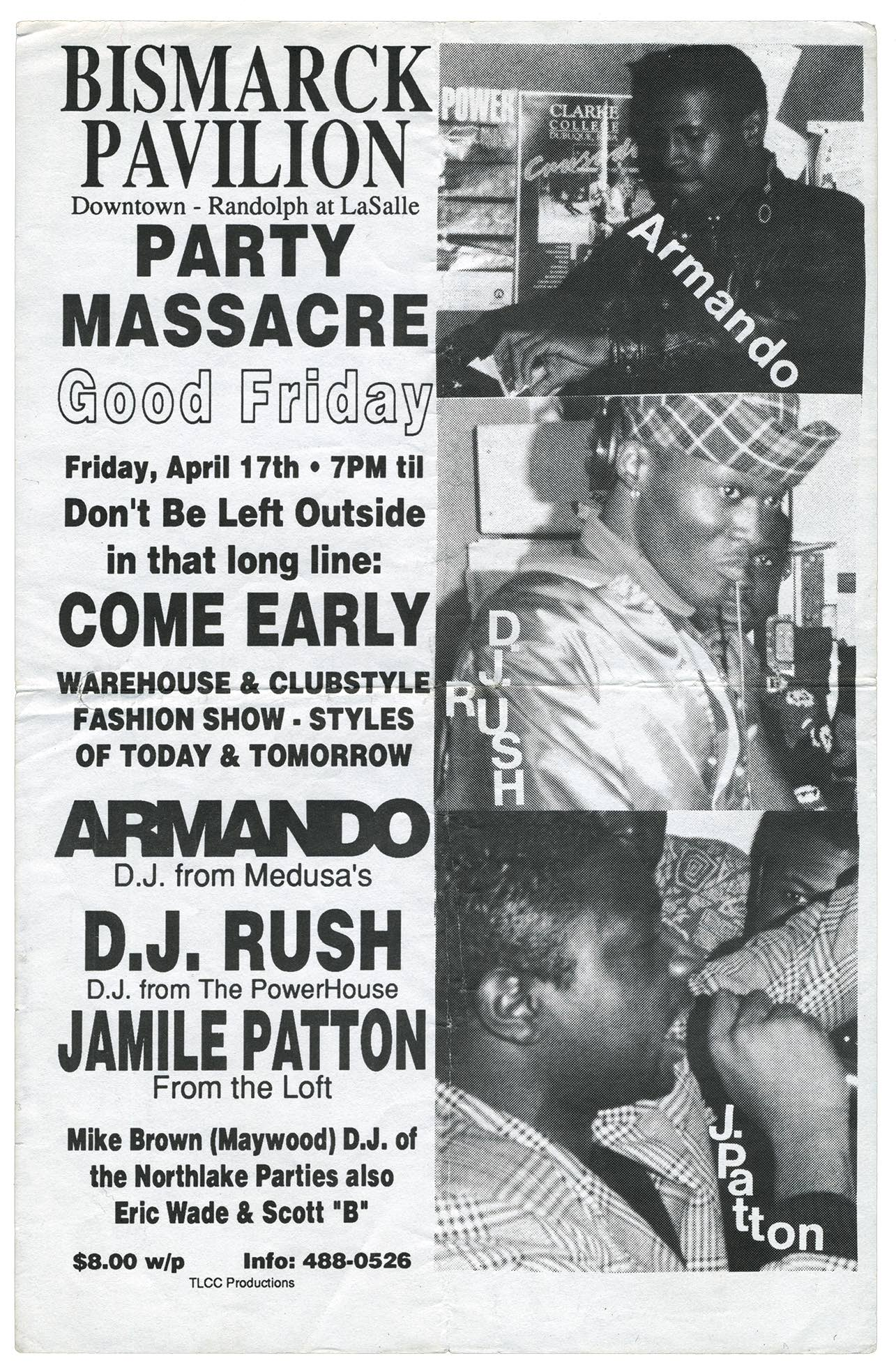 Chicago 1980s club flyers