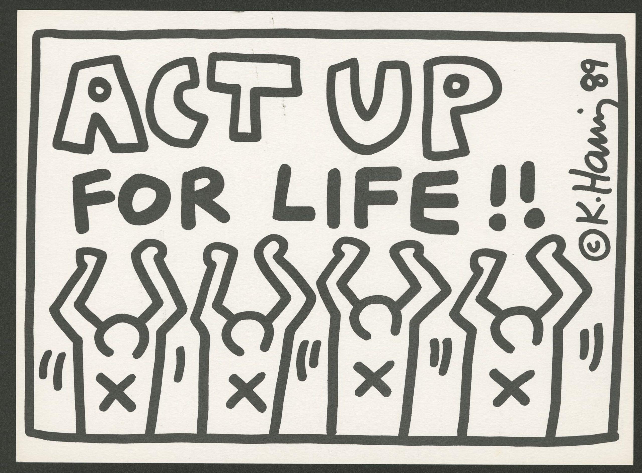 Keith Haring Act Up